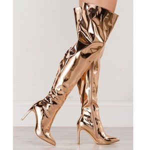 Shoes - ELECTROSHOCK THIGH HIGH POINTED TOE BOOTS